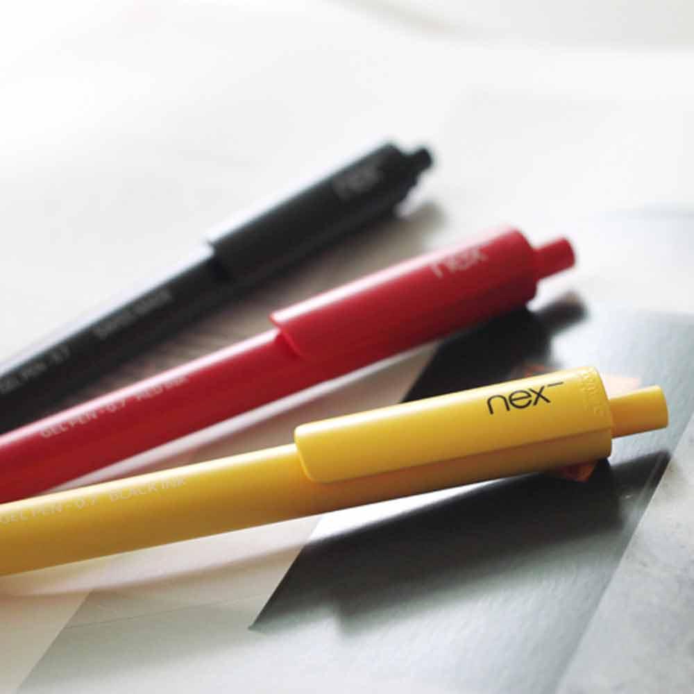PREMEC|NEX GEL PEN 膠墨筆 黑紅黃 三入組