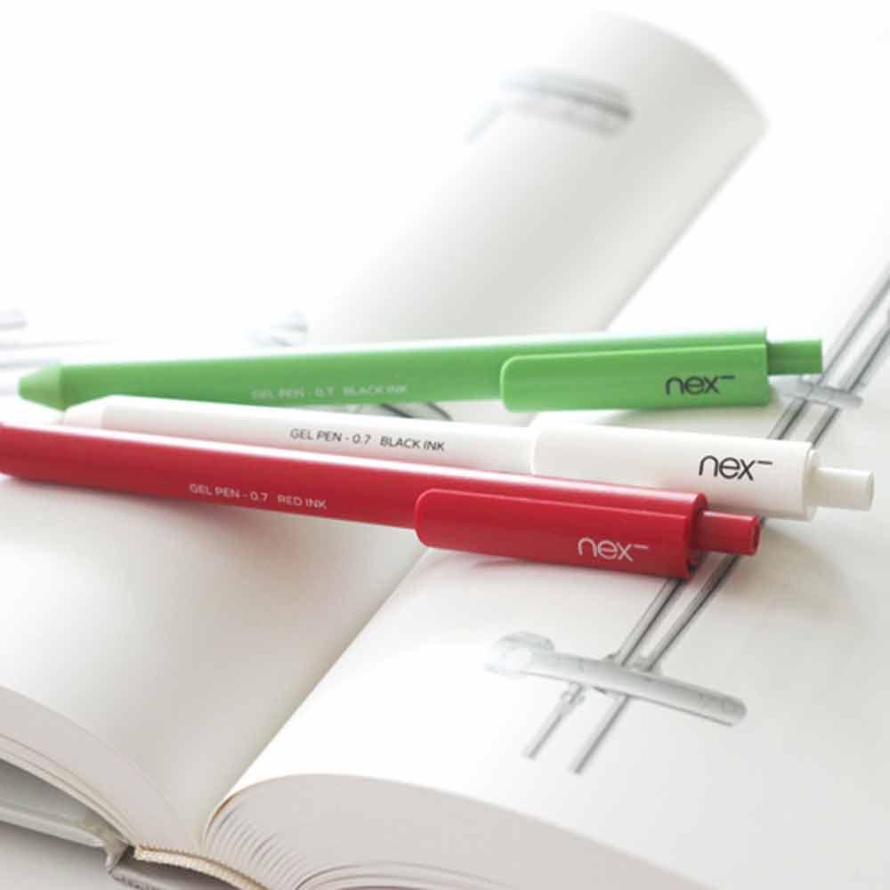 PREMEC|NEX GEL PEN 膠墨筆 綠白紅 三入組