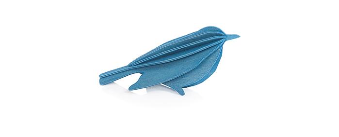 【芬蘭製】芬蘭設計LOVI樂宜 3D 立體拼圖樺木明信片|擺飾|禮物- 幸福鳥(8cm)