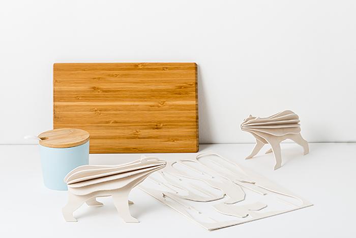 【芬蘭製】芬蘭設計LOVI樂宜 3D 立體拼圖樺木明信片|擺飾|禮物- 北極熊 (15cm)