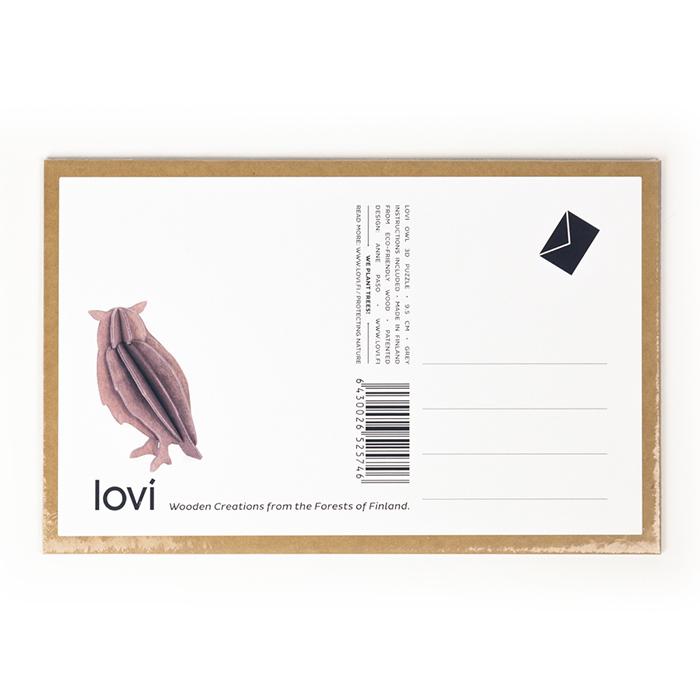 (複製)LOVI|3D立體拼圖樺木明信片/擺飾- 小北極熊 (7cm)