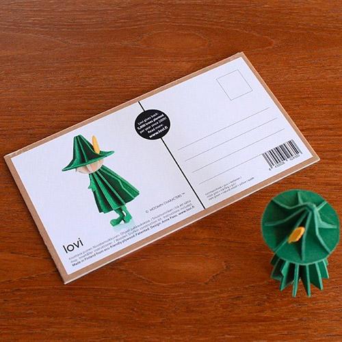 LOVI|3D立體拼圖樺木明信片/擺飾-嚕嚕米系列/阿金(11cm)