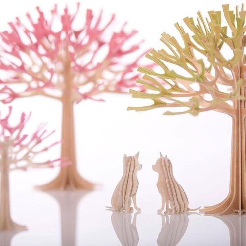 LOVI|3D立體拼圖樺木明信片/擺飾-掌心小吉/吉娃娃 (6cm)