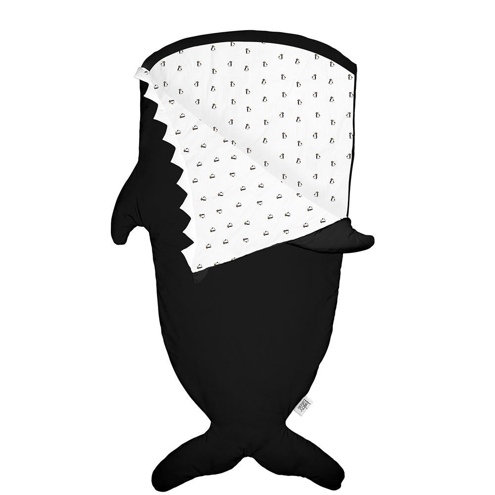 鯊魚咬一口 BabyBites|100%純棉手作兒童版睡袋/防踢被-小殺人鯨