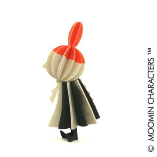 LOVI|3D立體拼圖樺木明信片/擺飾-嚕嚕米系列/小不點(9cm)