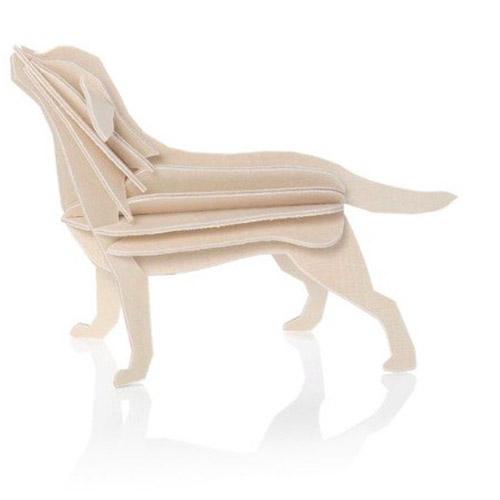 LOVI|3D立體拼圖樺木明信片/擺飾-拉不拉多(15cm)