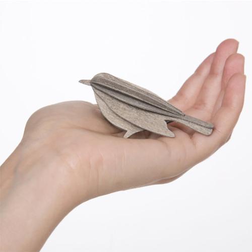LOVI|3D立體拼圖樺木明信片/擺飾-  幸福鳥(8cm)