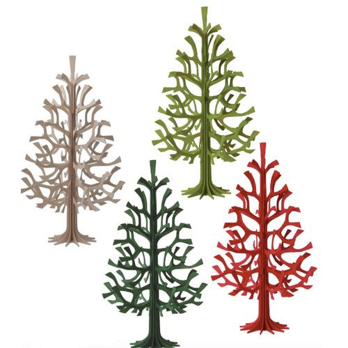 LOVI|3D立體拼圖樺木明信片/擺飾-聖誕樹 (14 cm)