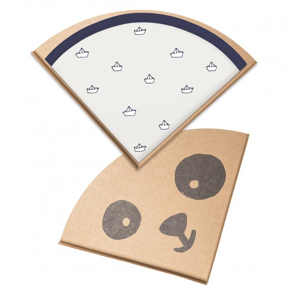 鯊魚咬一口 BabyBites|100% 親膚純棉、防潑水完整包覆寶寶口水巾|圍兜-折紙船