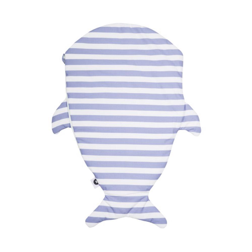 鯊魚咬一口 BabyBites (標準版)100%純棉嬰幼兒多功能睡袋/防踢被-水手藍條紋