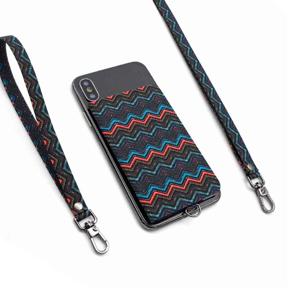 ekax│手機背貼卡片夾手頸繩組(異域虹彩)