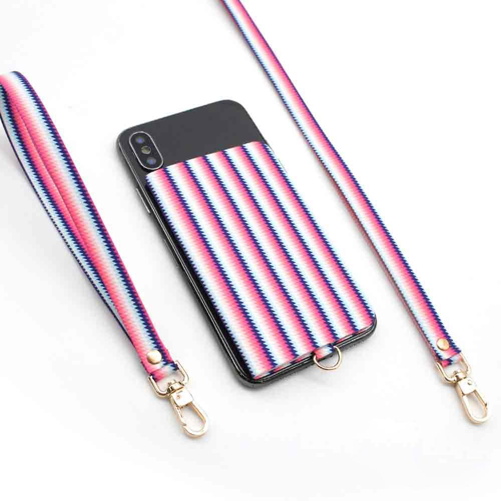 ekax│手機背貼卡片夾手頸繩組(青春藝彩)