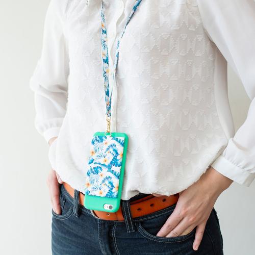 ekax│手機背貼卡片夾手頸繩組(隨風輕舞)