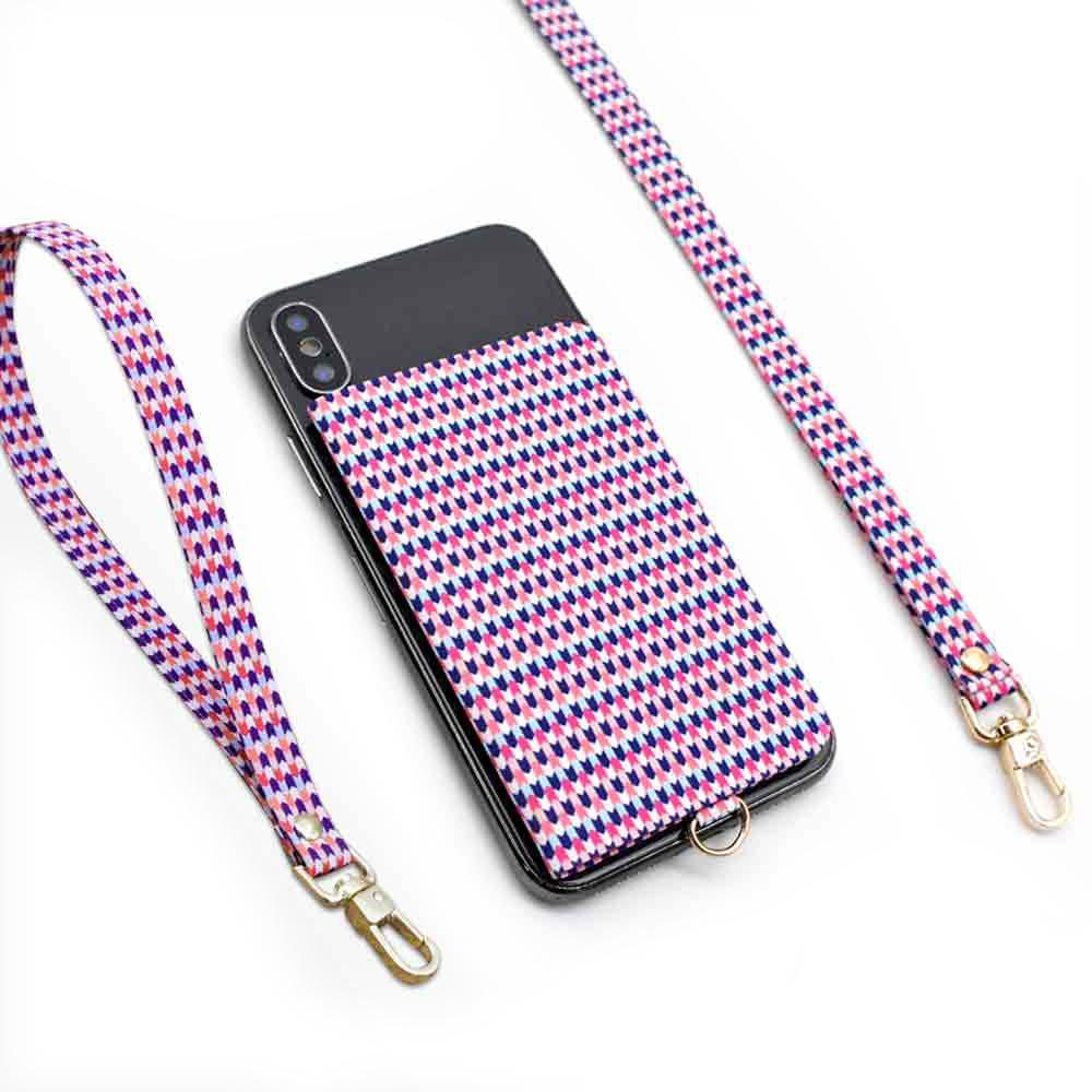 ekax│手機背貼卡片夾手頸繩組(炫彩甜心)