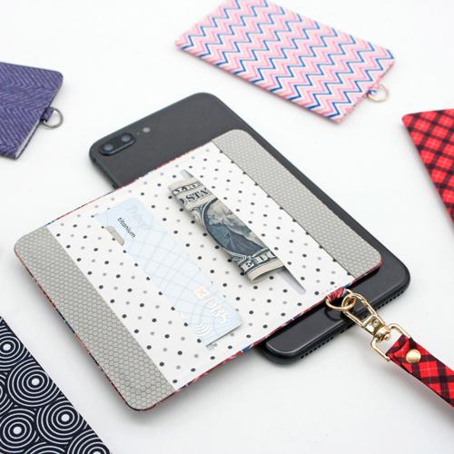 ekax│手機背貼卡片夾手頸繩組(奢華印花)