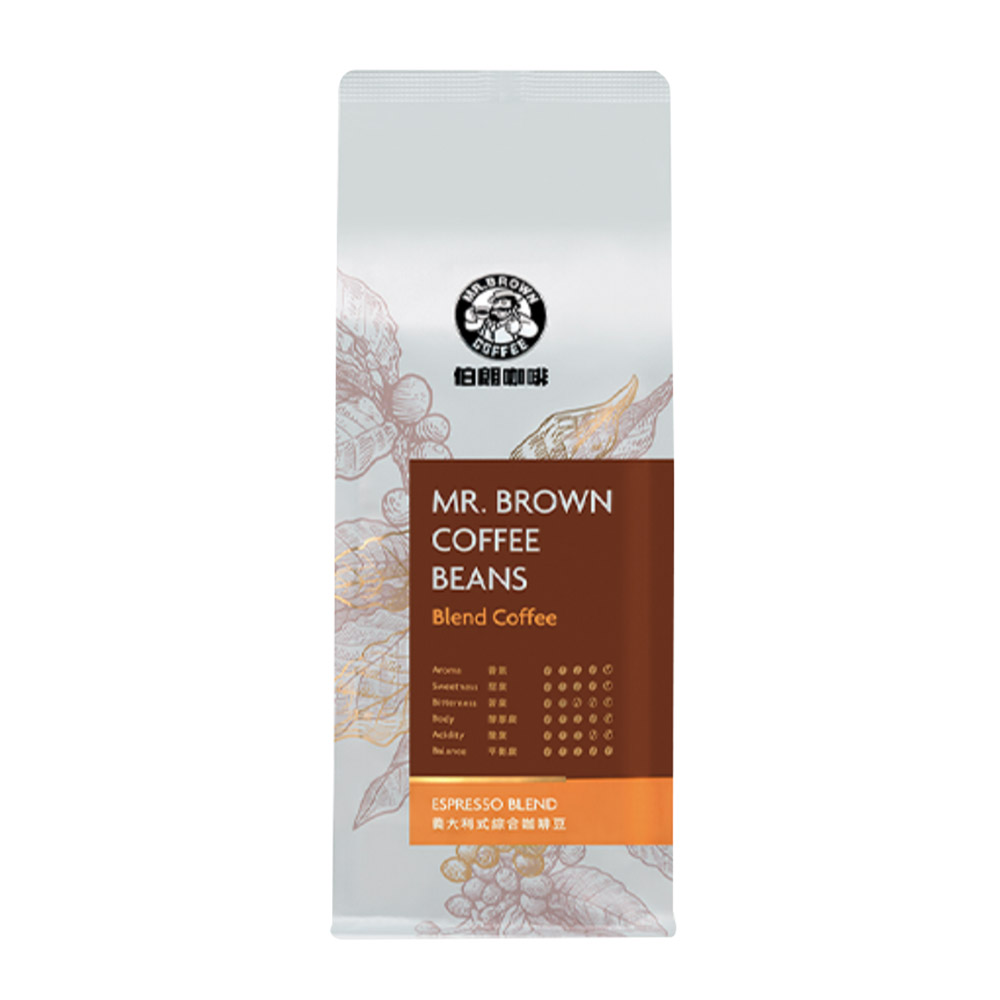 MR. BROWN 伯朗 義大利式咖啡豆(450g)
