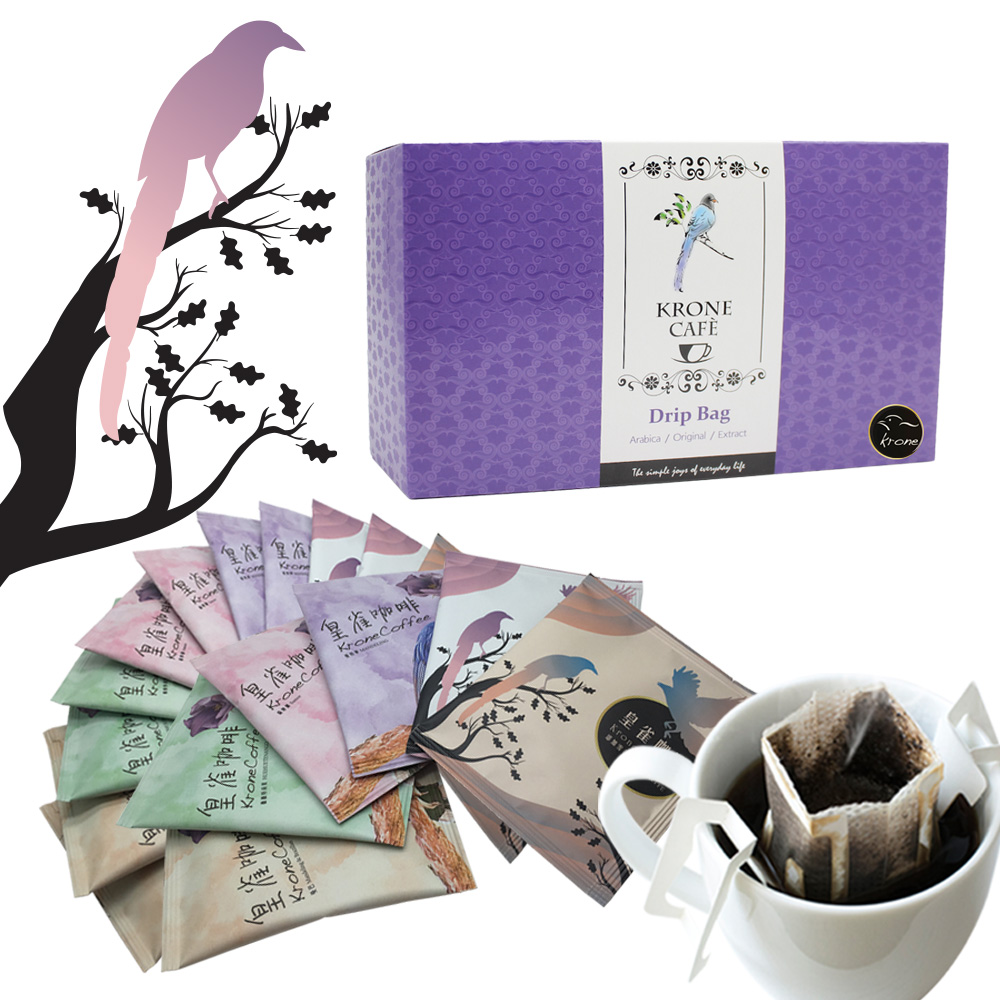 Krone皇雀|阿拉比卡濾掛式手沖咖啡 12入時尚禮盒組