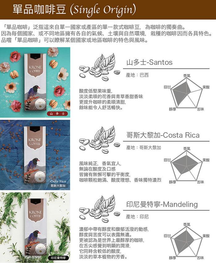 (複製)Krone皇雀 摩格咖啡豆(227g/半磅) x2包