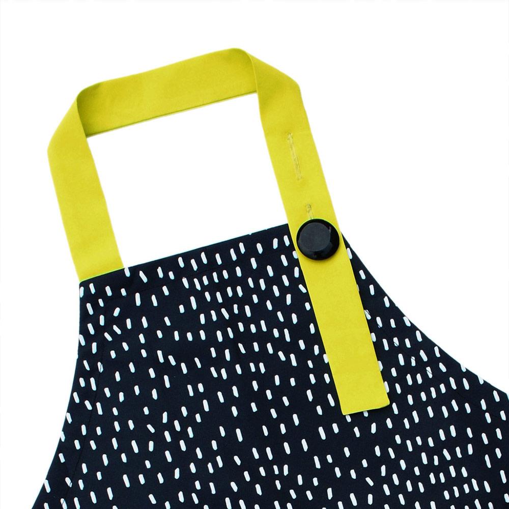 OGG|幾何趣拼色寶寶工作圍裙袖套組(嗒嗒雨點)