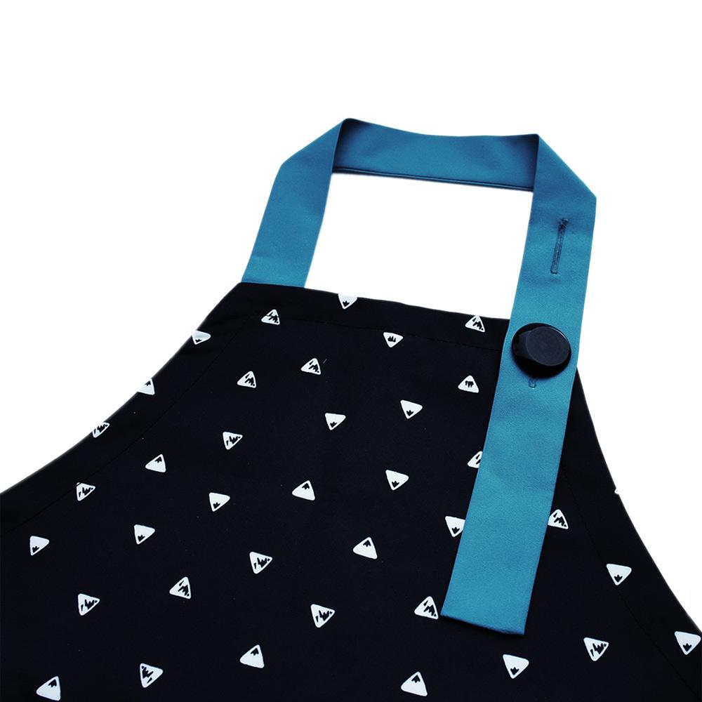 OGG 幾何趣拼色寶寶工作圍裙袖套組(排排山丘)
