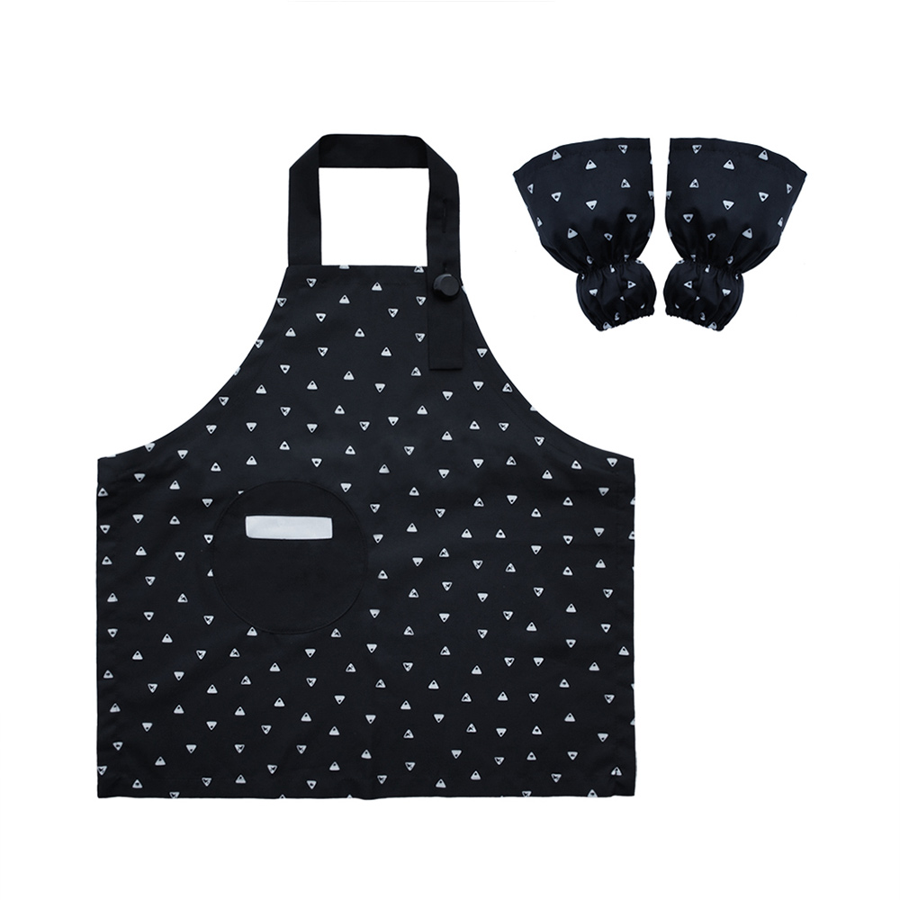 OGG 幾何趣經典寶寶工作圍裙袖套組(排排山丘)