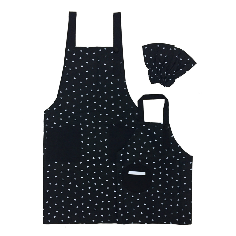OGG 幾何趣經典親子工作圍裙(排排山丘)