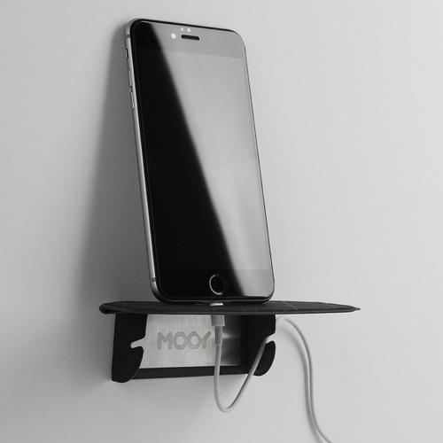 MOOY|Plank 2.0 小力士磁吸辦公置物架-黑色