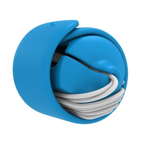 MOOY|Snappy 2.0 耳機捲線器(晴空藍Blue)
