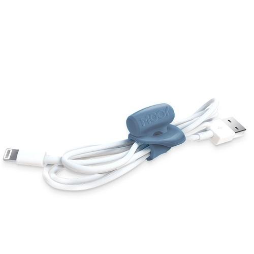 MOOY|Clingman彈性束線帶(薄暮藍)+Hugman行動電源束線帶(竹炭灰)