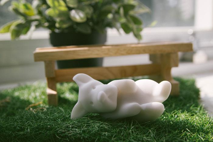 (複製)CHU,AN Design| 自信柴犬-狗狗造型石雕擺飾/紙鎮