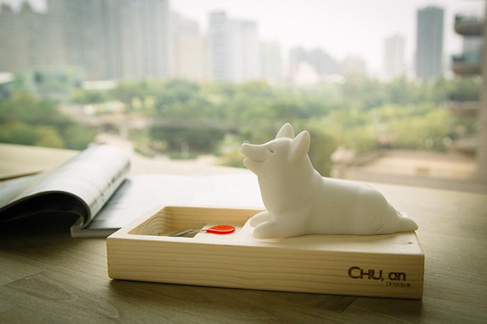 (複製)CHU,AN Design| 愛玩臘腸狗-狗狗造型石雕擺飾/紙鎮
