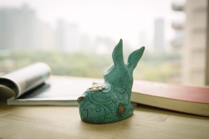 筌美術Gallery Chuan | 青銅時期系列_《大展鴻圖》兔造型銅雕