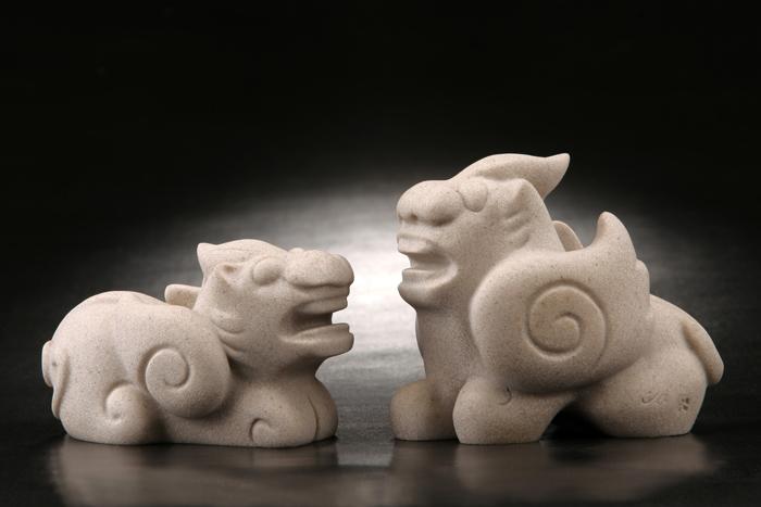 (複製)筌美術Gallery Chuan | 古老的傳說系列_《福佑麒麟》石雕