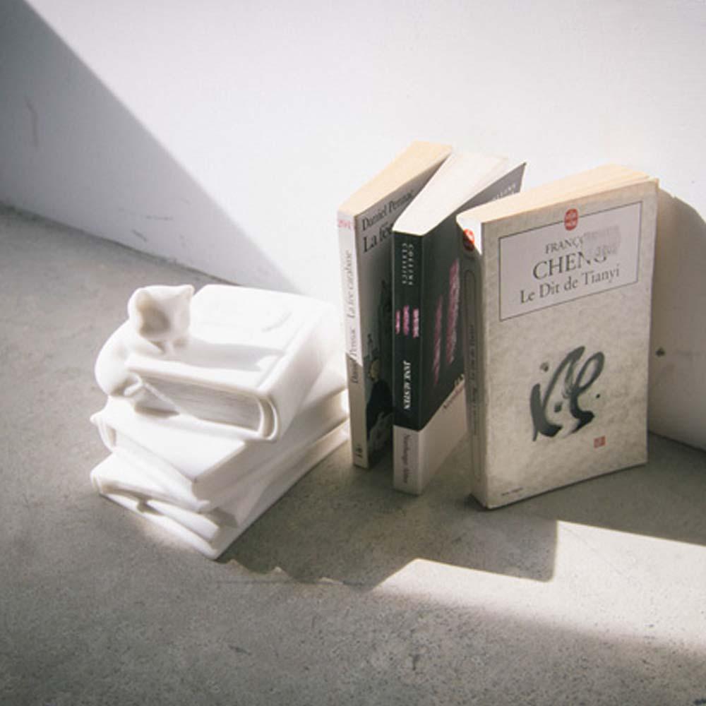CHU,AN Design|品格-貓咪造型立體石雕書擋