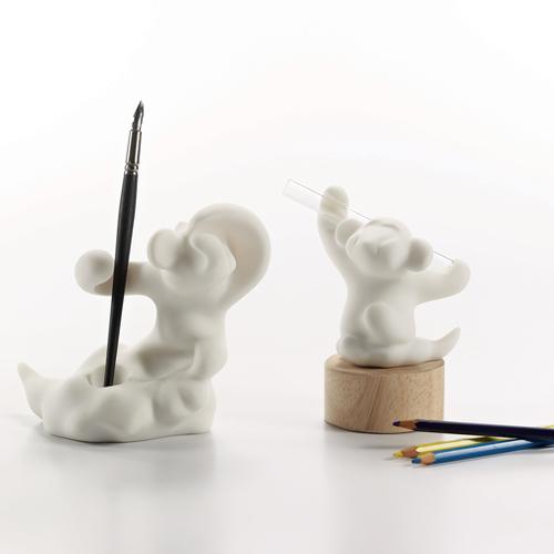 CHU,AN Design 七十二變 悟空系列-《心堅定.勝利猴》立體石雕筆座 / 試管花器