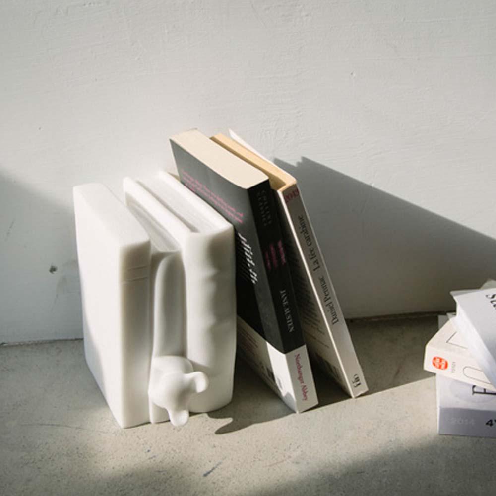 CHU,AN Design|勇氣-小老鼠造型立體石雕書擋