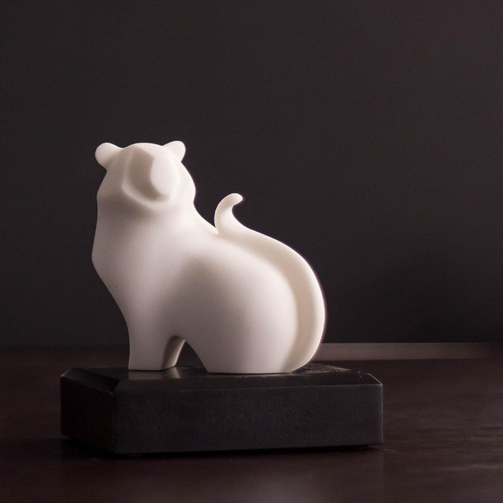 CHU,AN Design| 先鋒虎-十二生肖造型石雕紙鎮