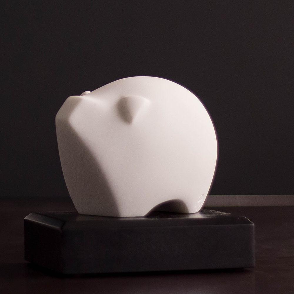CHU,AN Design| 富貴豬-十二生肖造型石雕紙鎮