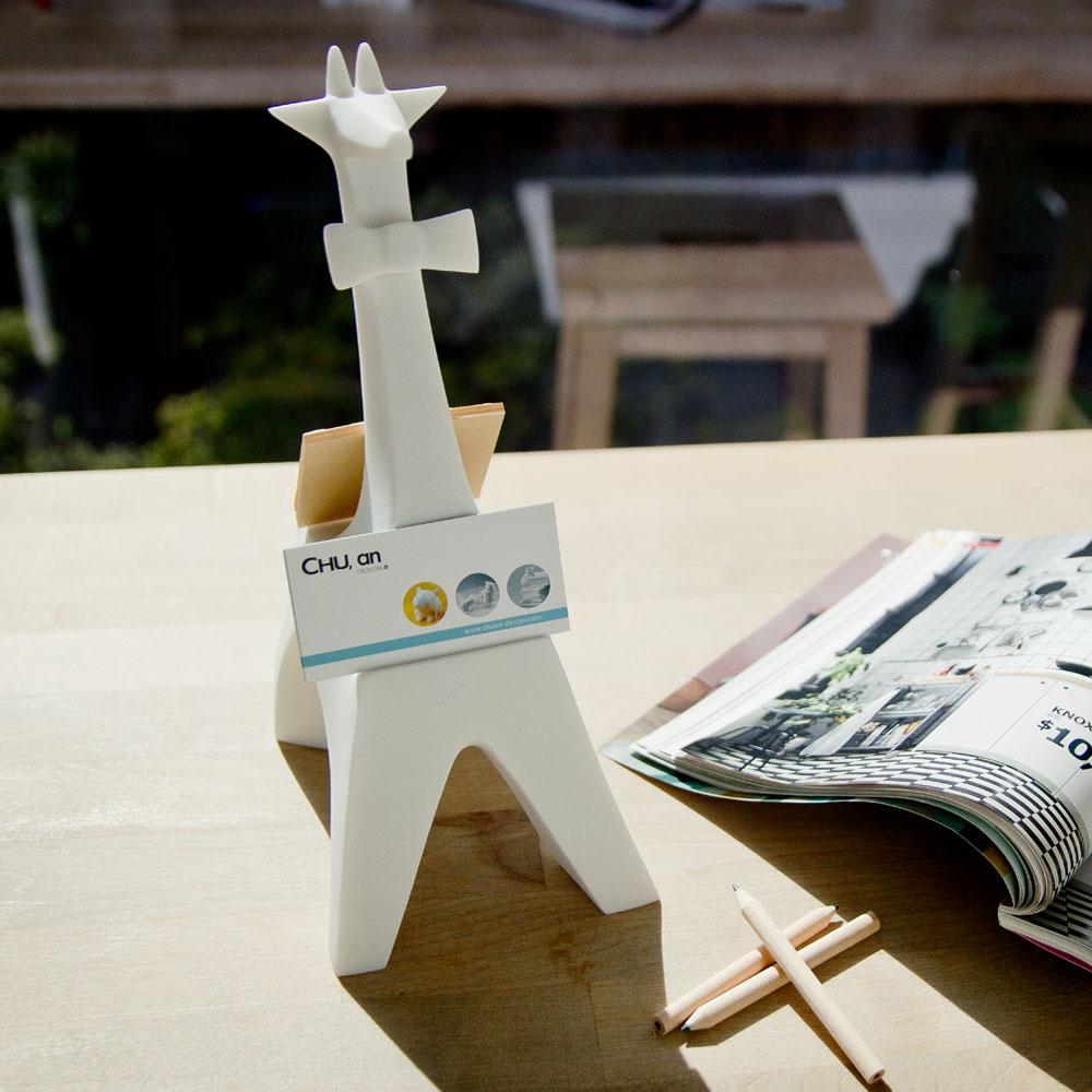 CHU,AN Design|大非洲系列-《追尋精彩長頸鹿》長頸鹿造型立體石雕MEMO夾/名片座