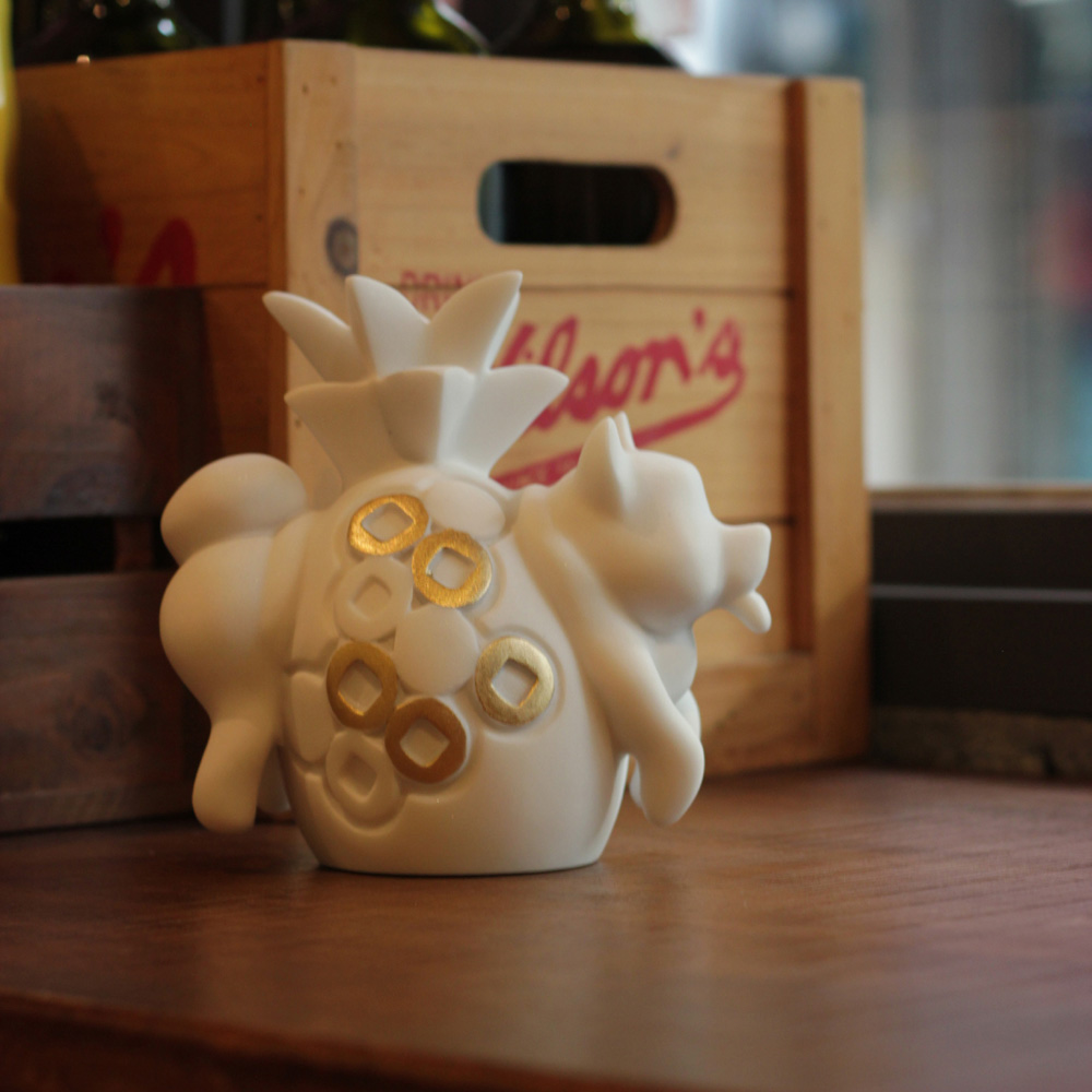 CHU,AN Design|《旺柴》鳳梨柴犬造型石雕擺飾/紙鎮