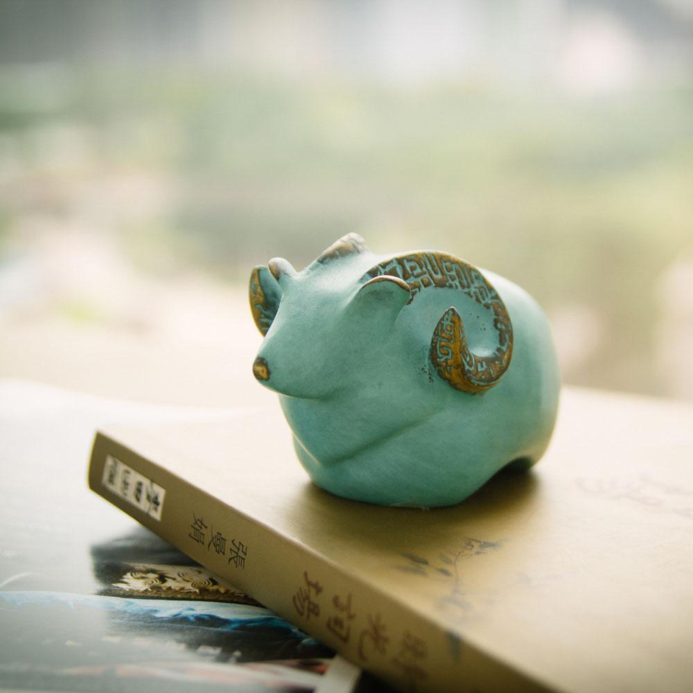 筌美術Gallery Chuan|青銅時期系列_《堅固柔情》羊造型銅雕