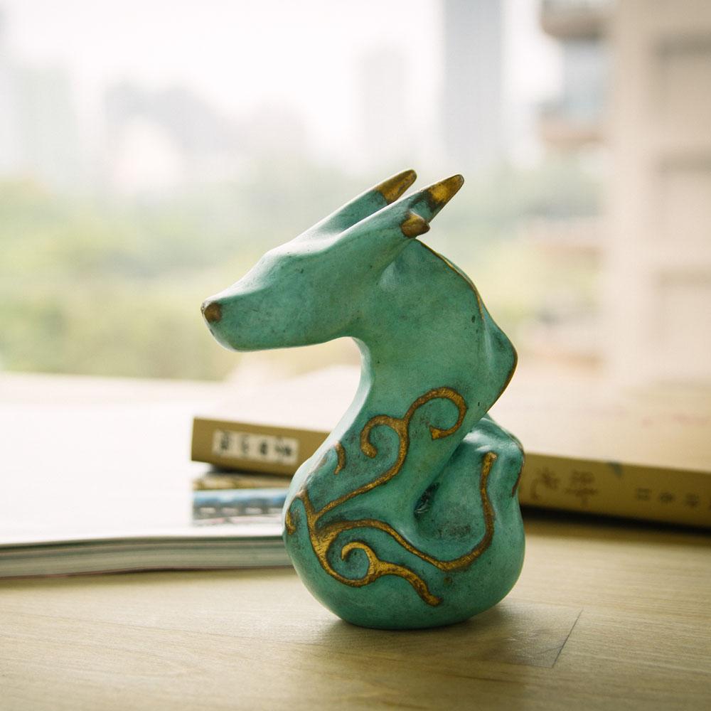 筌美術Gallery Chuan   青銅時期系列_《綻放鋒芒》龍造型銅雕