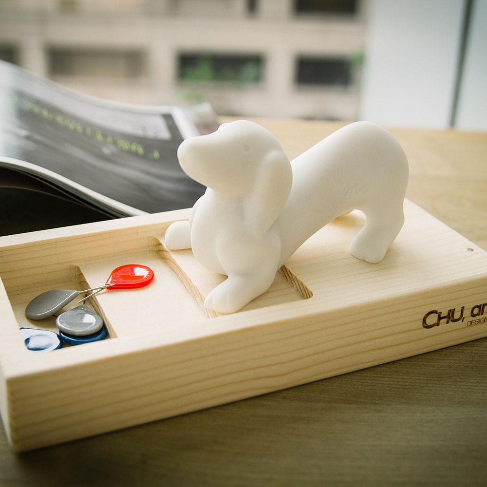 CHU,AN Design| 愛玩臘腸狗-狗狗造型石雕擺飾/紙鎮