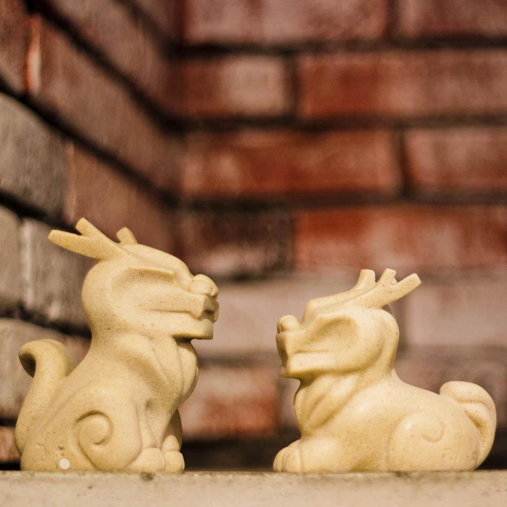 筌美術Gallery Chuan | 古老的傳說系列_《福佑麒麟》石雕