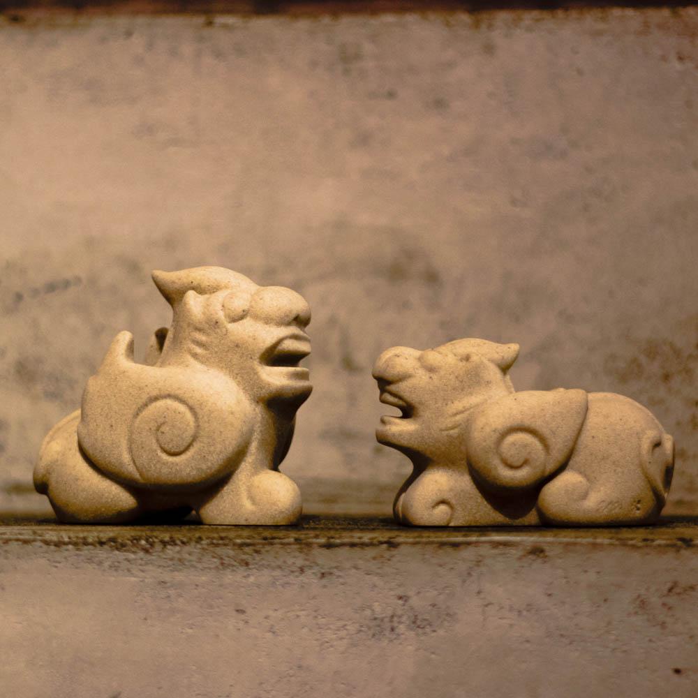筌美術Gallery Chuan | 古老的傳說系列_《開運興宅》貔貅造型石雕