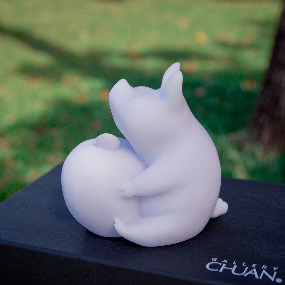 CHU,AN Design| 諸事平安-蘋果與豬造型石雕/紙鎮