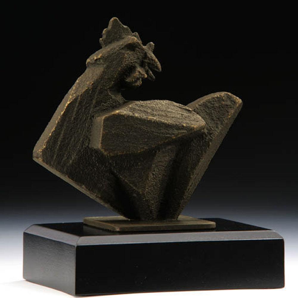 筌美術Gallery Chuan | 八方系列_《雞.報喜  》銅雕