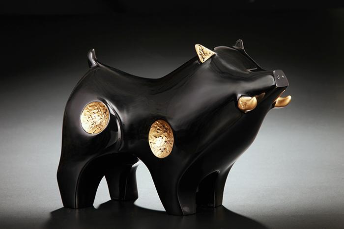 筌美術Gallery Chuan   尊榮系列_《納.財源 》豬造型擺飾