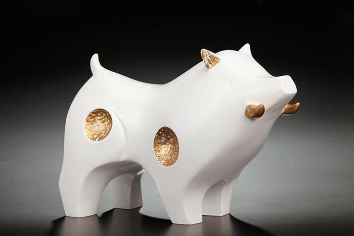 (複製)筌美術Gallery Chuan | 尊榮系列_《納.財源 》豬造型擺飾