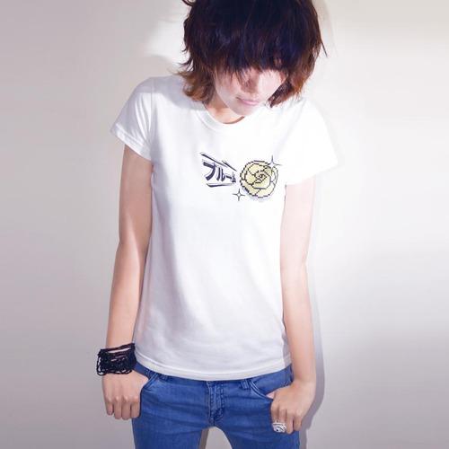 buyMood 白目叮|山茶花閃耀T恤/女版(白色)